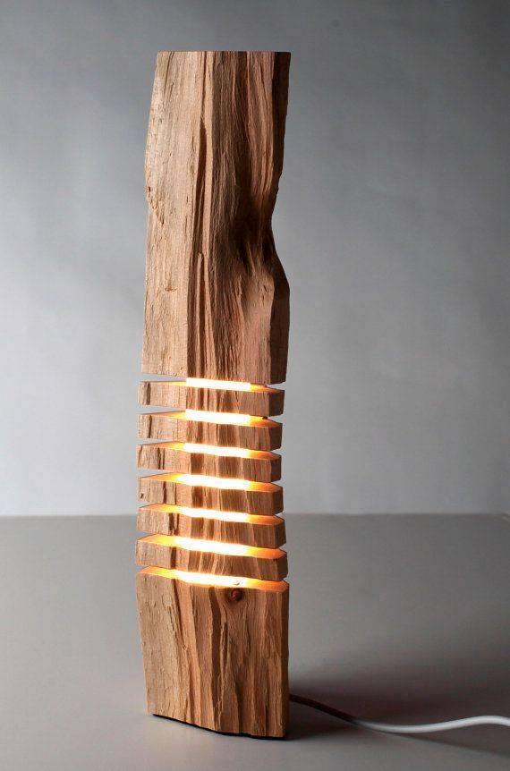 Лампа от масивно дърво за интериорен дизайн