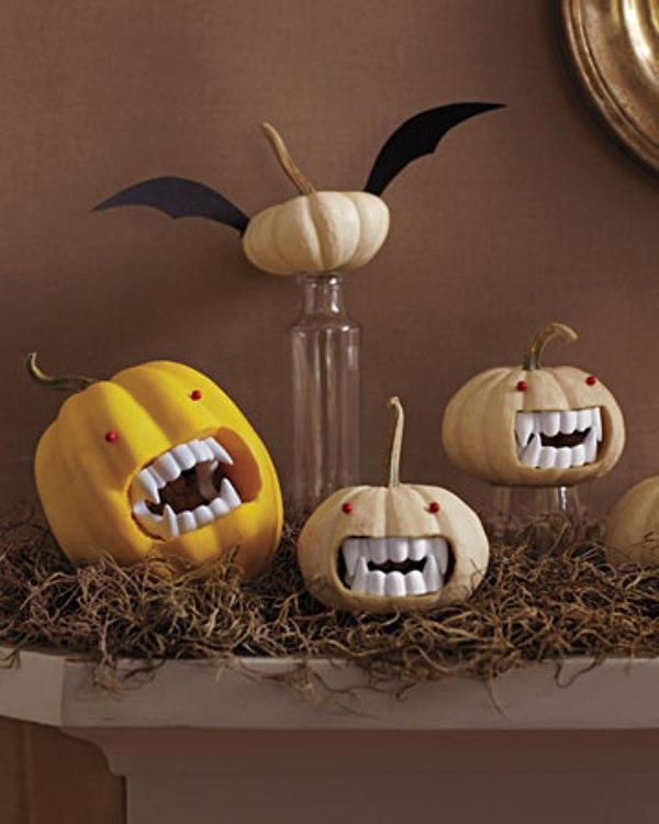 Тикви със зъбки на вампир