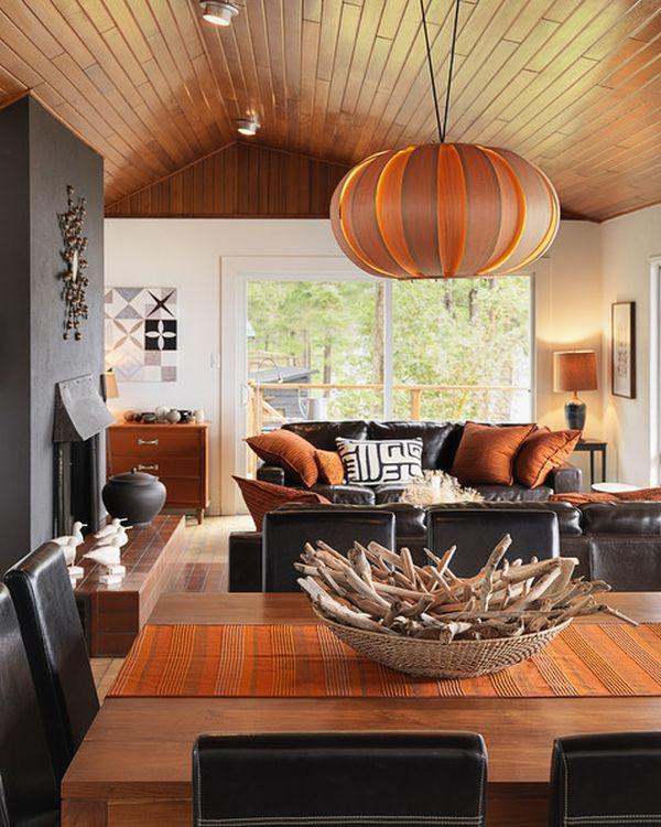 Интериорен дизайн в оранжево