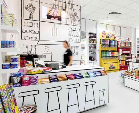 Интериорен дизайн на магазин за бонбони