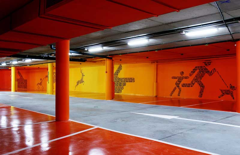 Интериорен дизайн на хотел паркинг
