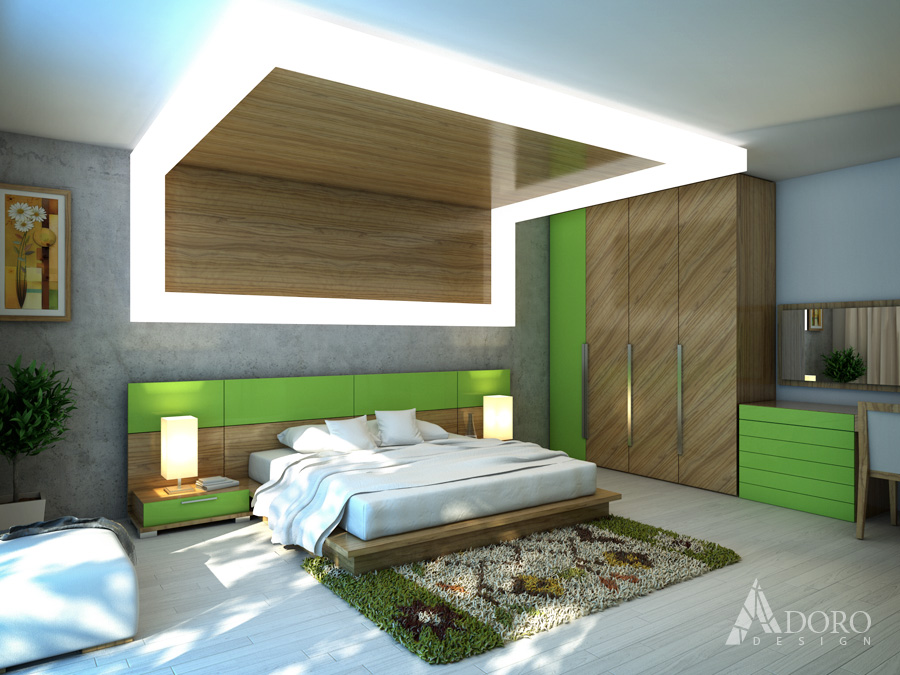 Bedroom interioren design adoro design for Bed dizain image