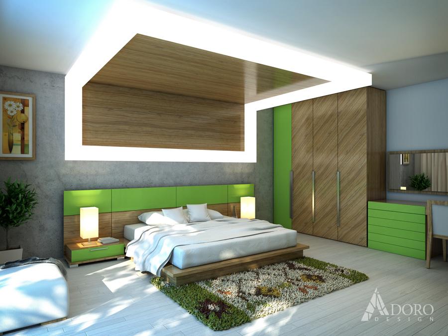 Bedroom interioren design adoro design for Wooden bed designs pictures interior design