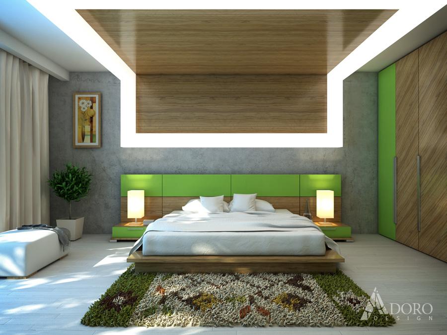 Bedroom interioren design adoro design for Bed dizain image