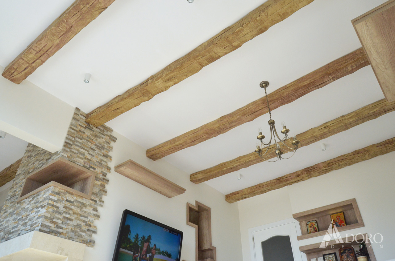 Реализиран интериорен дизайн на дневна в апартамент гр. Бургас