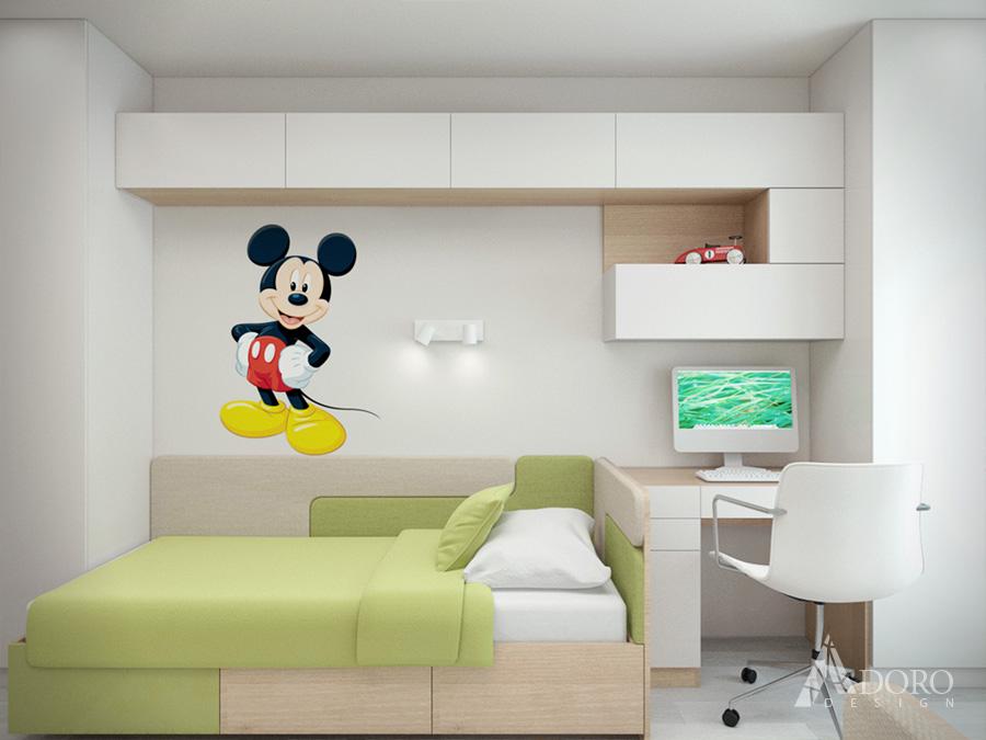 Интериорен дизайн на детска стая с две легла