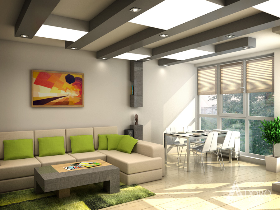 Residential Apartment Interior Adoro Deisgn