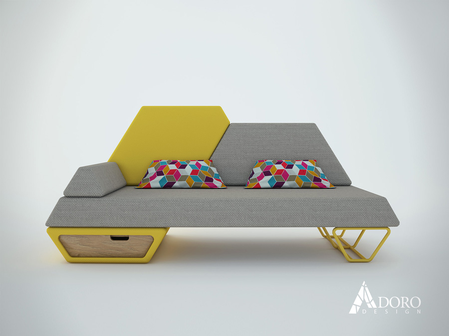Продуктов дизайн на канапе