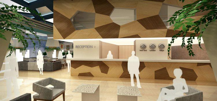 Идеен интериорен проект за обновление на фоайе на хотел